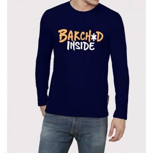 Bakch*d Inside Full Sleeve 100% Cotton Round Neck T shirt