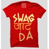 Swag Jaat Da  100% Cotton Round Neck T Shirt