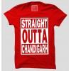 Straight Outta Chandigarh Half Sleeve 100% Cotton Round Neck T-Shirt