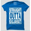 Straight Outta Gujrat Half Sleeve 100% Cotton Round Neck T-Shirt