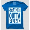 Straight Outta Pune Half Sleeve 100% Cotton Round Neck T-Shirt