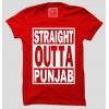 Straight Outta Punjab Half Sleeve 100% Cotton Round Neck T-Shirt
